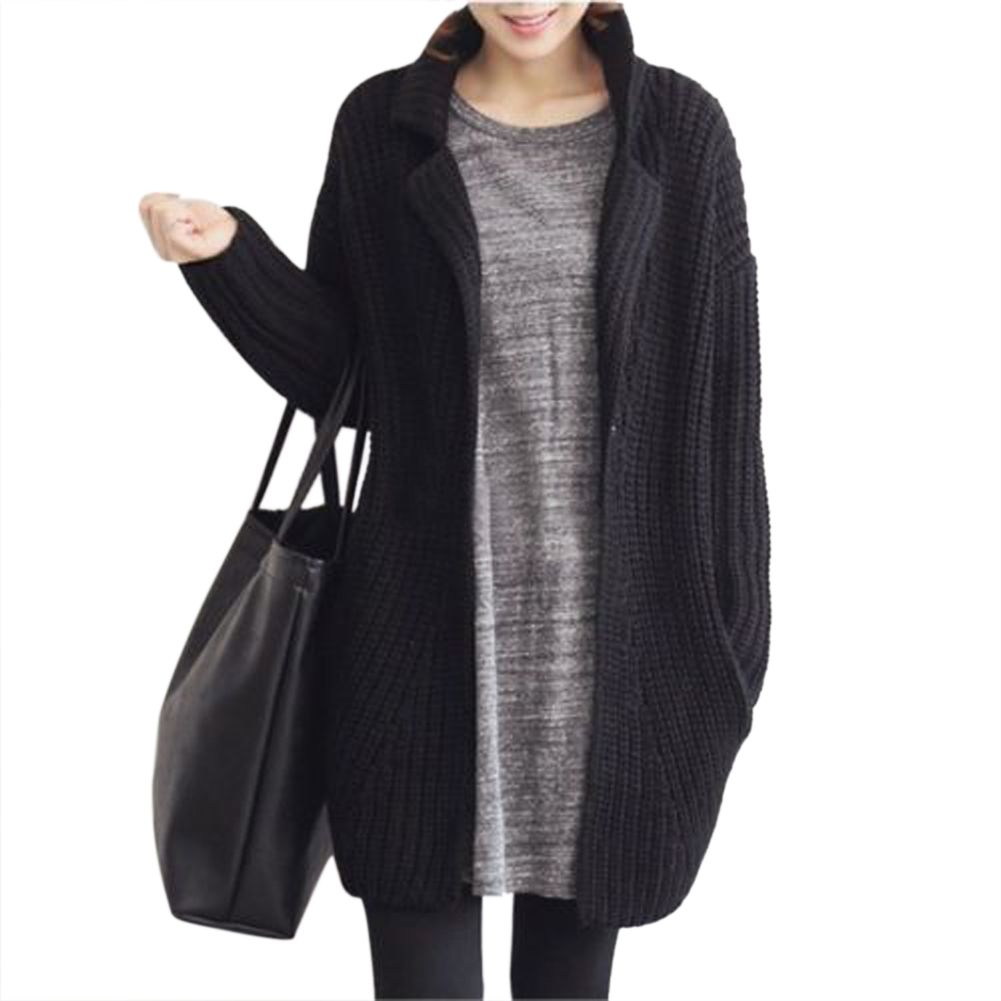 Women Oversized Cardigan Black | Fashion | Pinterest | Black ...