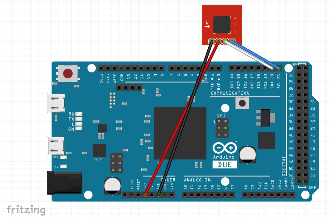 Arduino DUE + CMPS10 Compass Arduino, Digital, Compass