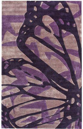 Rugs Usa Keno Butterfly Purple Rug Purple Area Rugs
