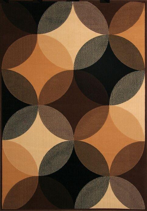 Namur Collection Black And Brown Multi Circles Print Pattern Area Rug 5.3u0027  X 7.6u0027 · Rug SaleValue City FurnitureLiving ...