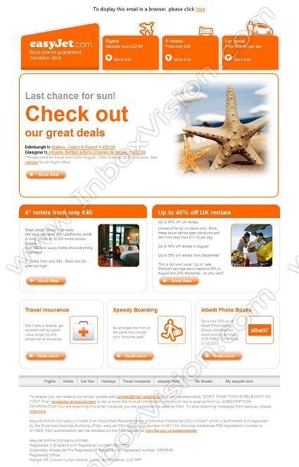 Company:   Easyjet Holidays    Subject:    Last chance for sun from Scotland from only GBP22.99!            INBOXVISION is a global database and email gallery of 1.5 million B2C and B2B promotional emails and newsletter templates, providing email design ideas and email marketing intelligence www.inboxvision.com/blog  #EmailMarketing #DigitalMarketing #EmailDesign #EmailTemplate #InboxVision  #SocialMedia #EmailNewsletters