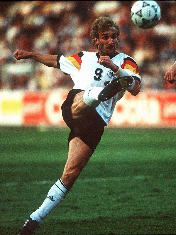 Rudi Voller Germany 1982 1994 90 Caps 47 Goals Fussball Nationalmannschaft Deutsche Fussball Bund Fussball