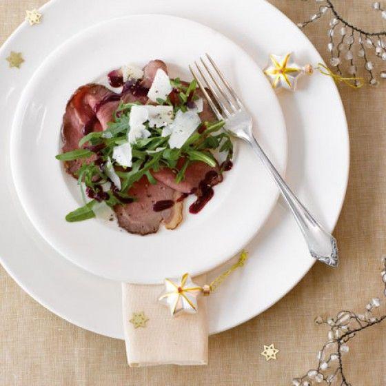 Weihnachtsmenü Schnell.Roastbeef Mit Johannisbeersauce