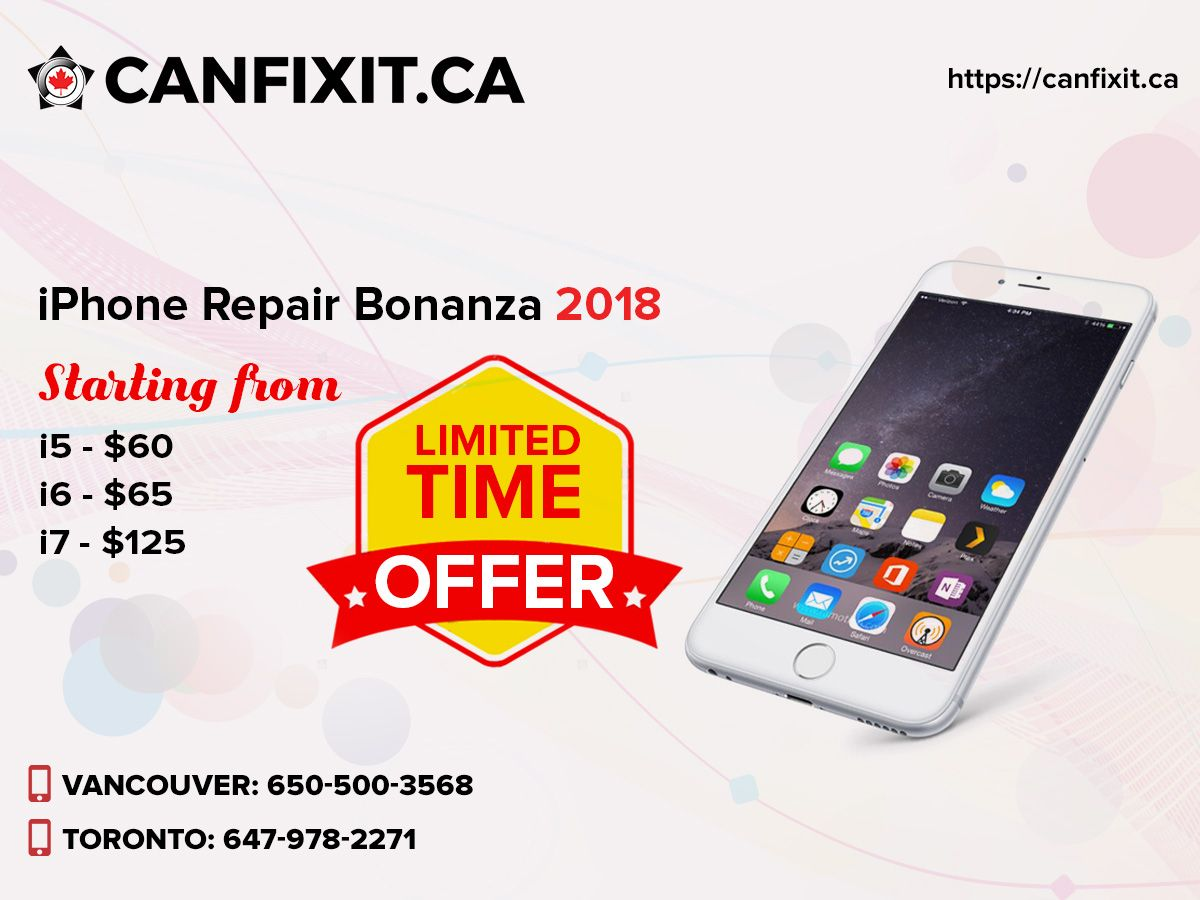 Get special iPhone repair offer from Canfixit! Click