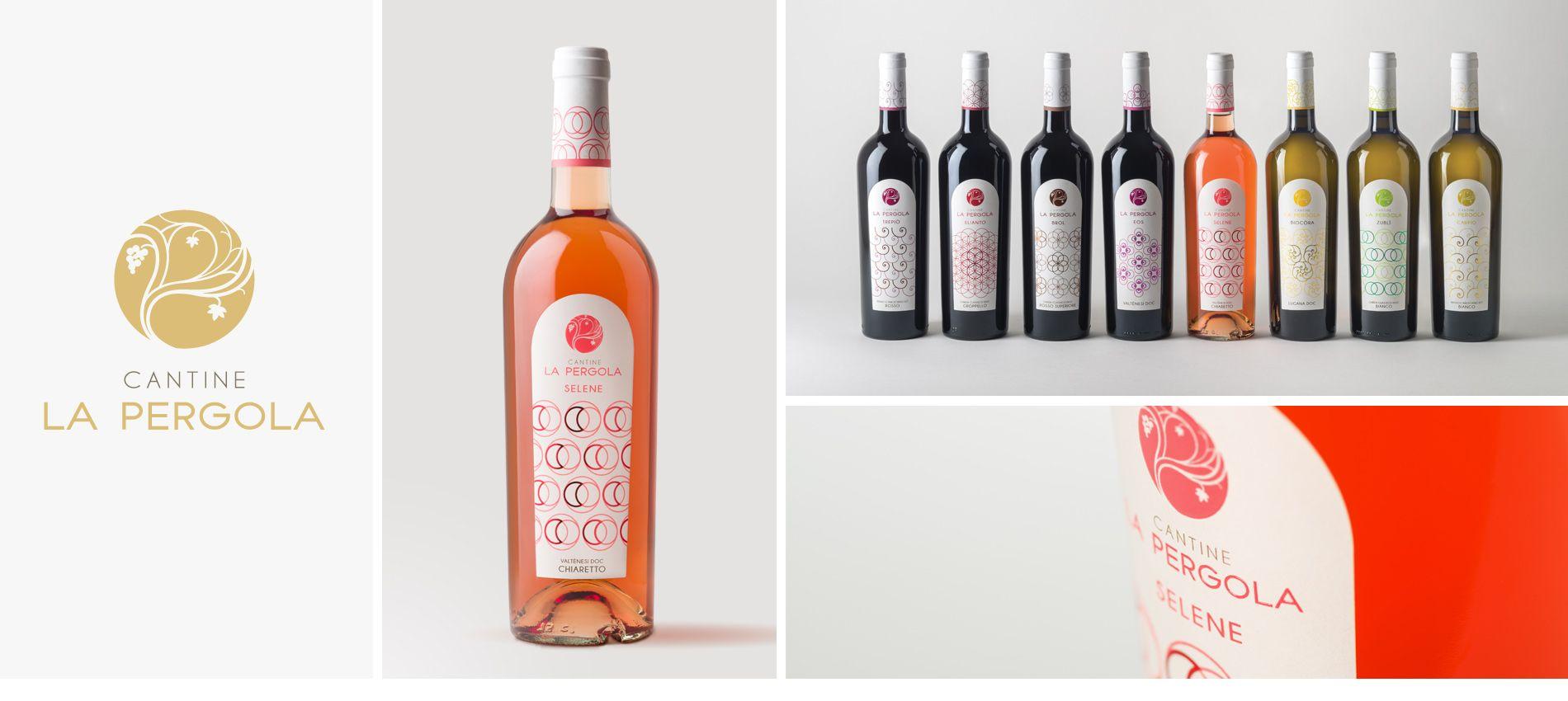 CANTINE LA PERGOLA, brand identity, label and logo design