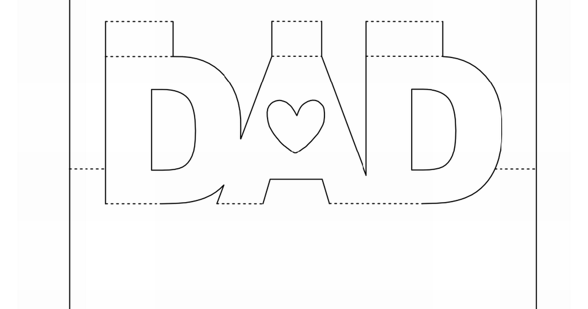 Dad Popup Card 1dogwoof Pdf Father S Day Card Template Easy Diy Father S Day Cards Dad Cards
