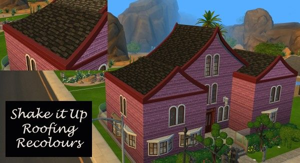 Mod The Sims Shake It Up Roof By Simmiller Sims 4 Update Sims Sims 4