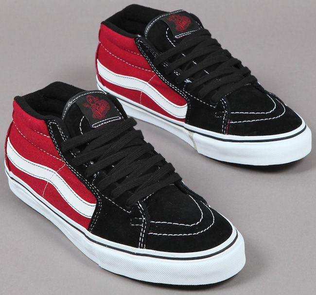 Vans Sk8-Mid Vert Pro Grosso - Red Black  85584d996