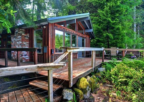 Beau River View Cabin   Secluded, Riverfront, Hot Tub In Mount Hood Oregon