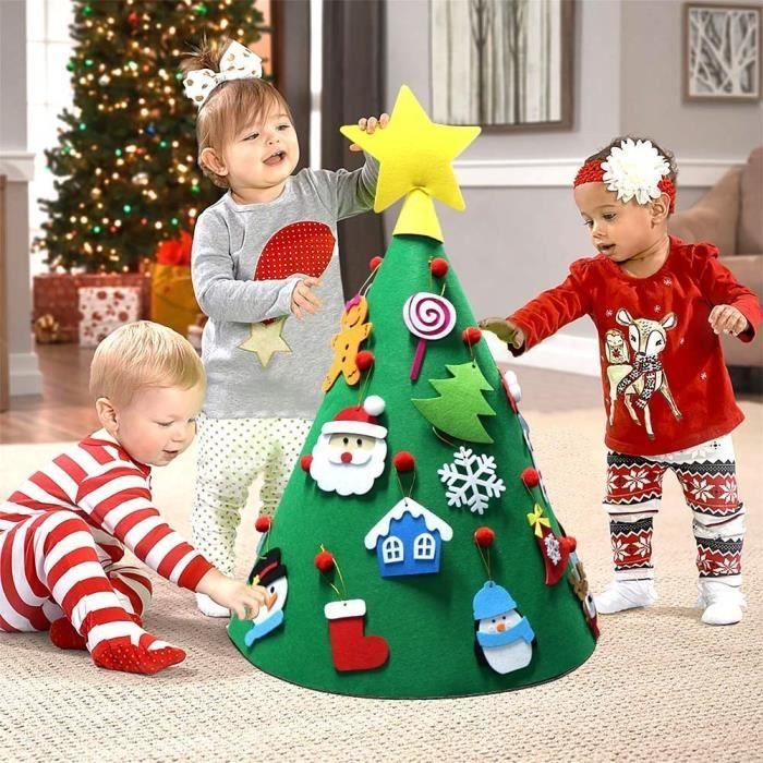 Enfants Arbre de Noël Craft Felt Toddler Enfants Noël À faire soi-même Décoration Cadeau 3D