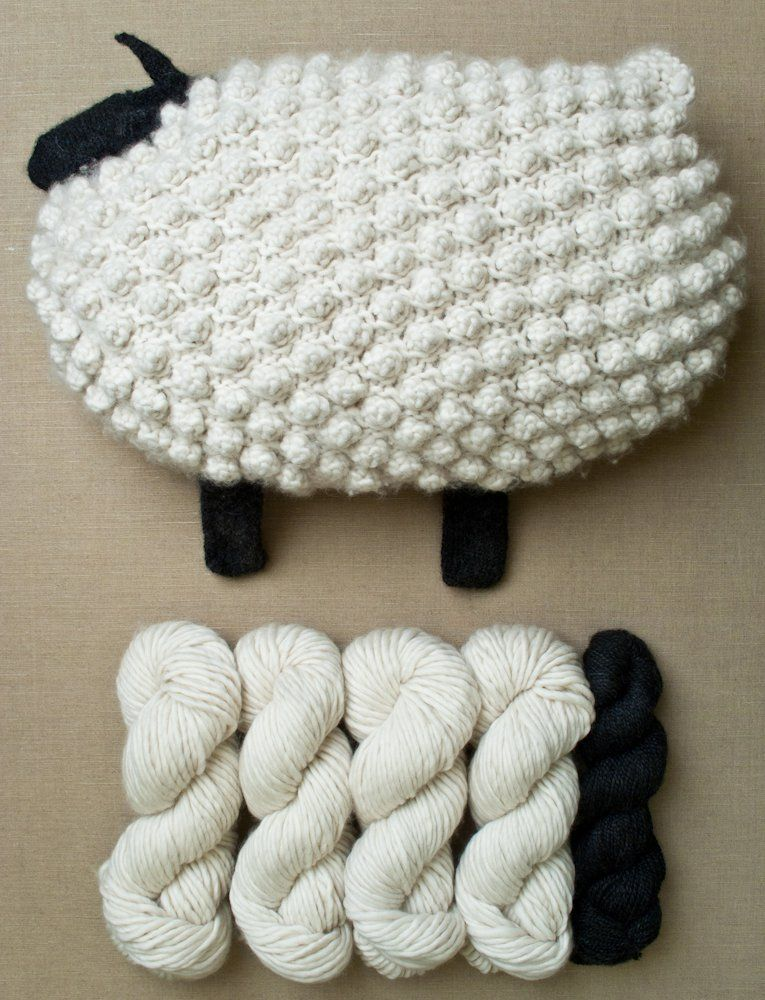 Bobble Sheep Pillow in Super Soft Merino | Purl Soho | to buy ...