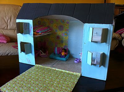 How to make a cardboard dolls house