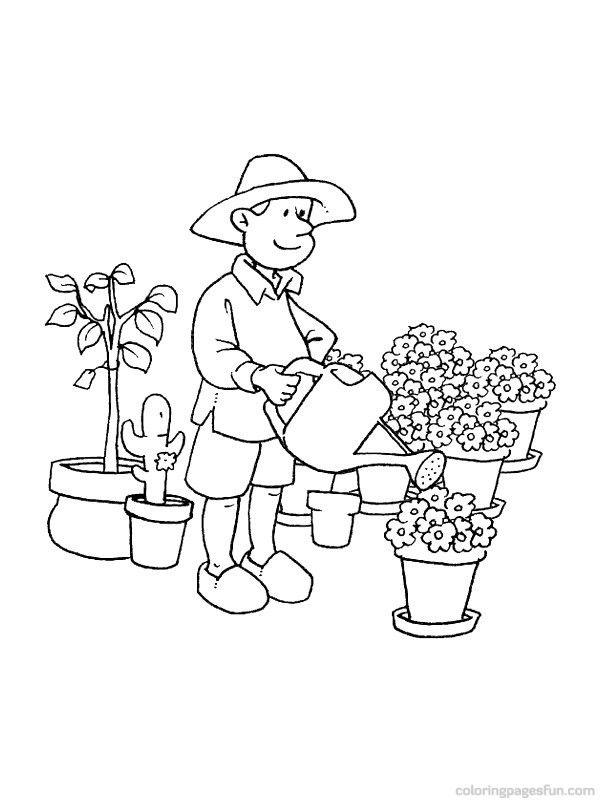 Gardener Dibujos De Profesiones Dibujos Colorear Para Ninos