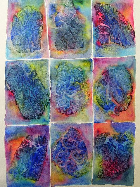 Experiment With Plastic Wrap Watercolor Projects Art Journal