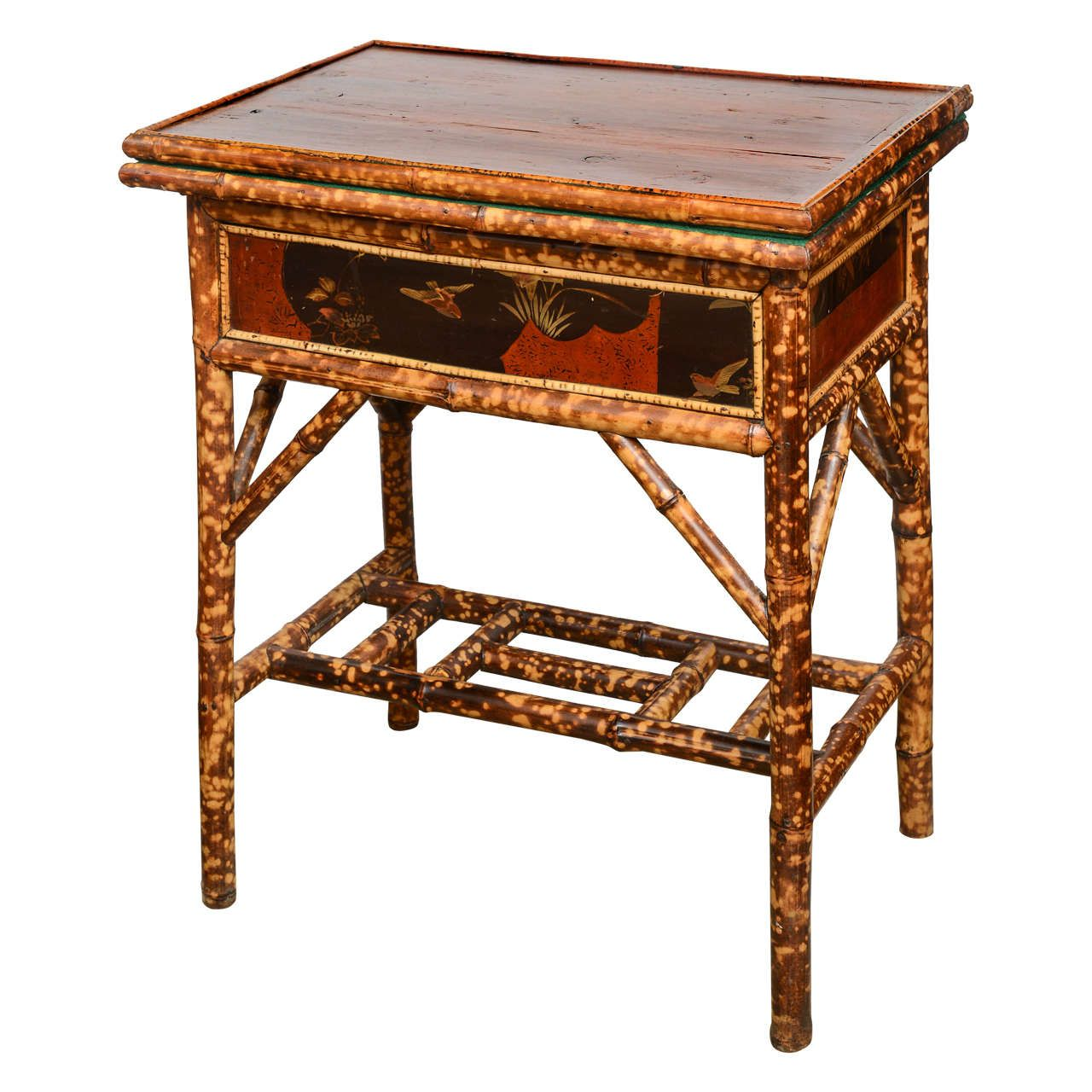 Charming 20th Century English Bamboo Game Table | 1stdibs.com