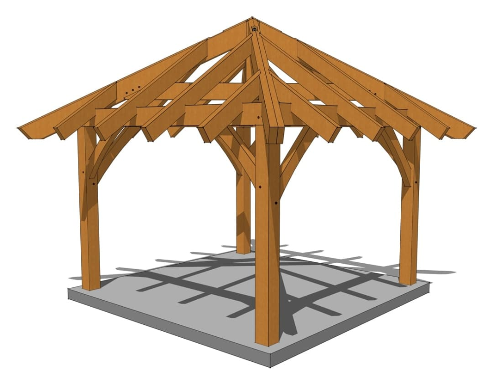 12 X 12 Gazebo Plan In 2020 Gazebo Plans Gazebo Timber Frame Plans