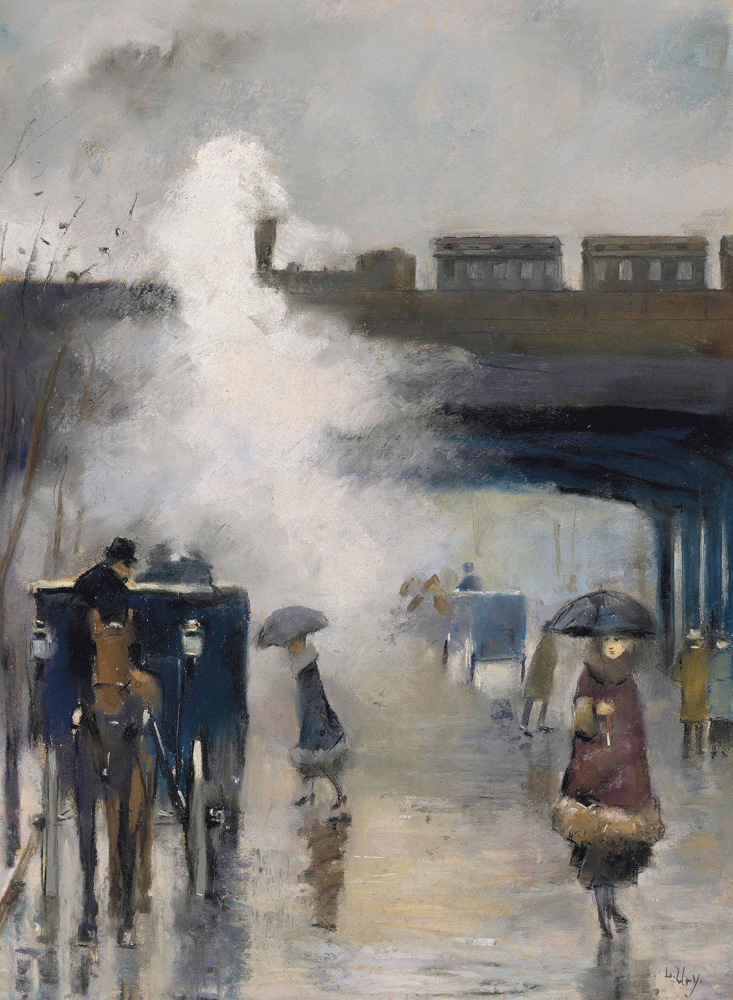 Lesser Ury Alexanderplatz Berlin C 1915 20 Impressionism Painting Lesser Ury Art