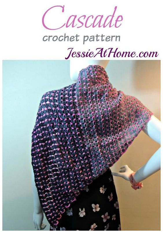 cascade-free-crochet-pattern-by-jessie-at-home: | chales, chèches ou ...