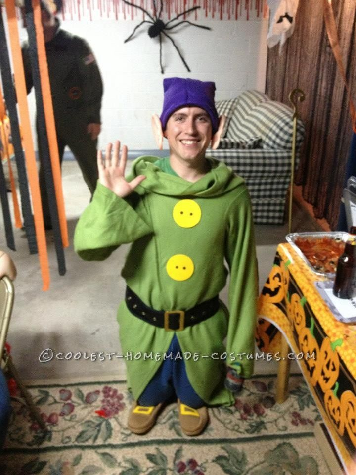 Homemade Dopey the Dwarf Costume from Snow White Dwarf