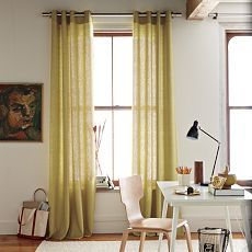Pear Green Linen Curtains For Payten S Room Yellow Curtains