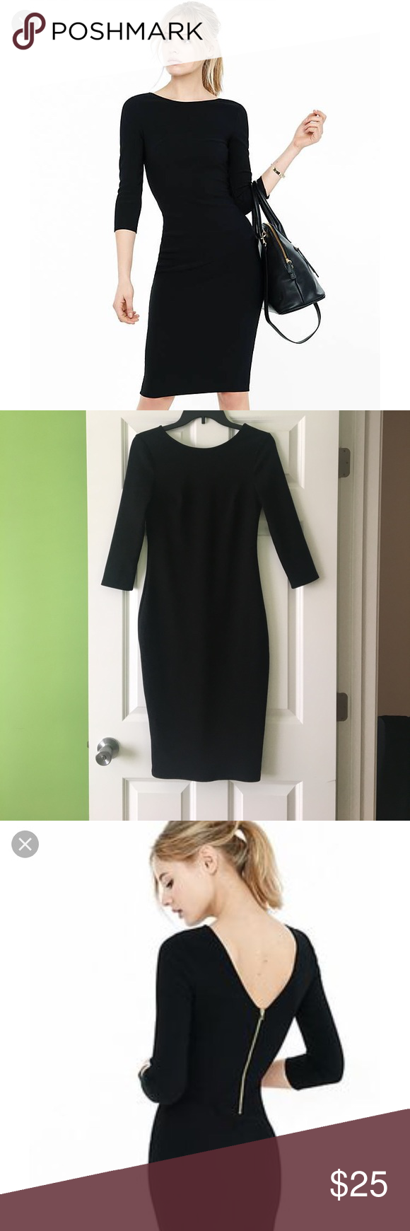 Express Midi Dress In Black Dresses Clothes Design Express Dresses [ 1740 x 580 Pixel ]