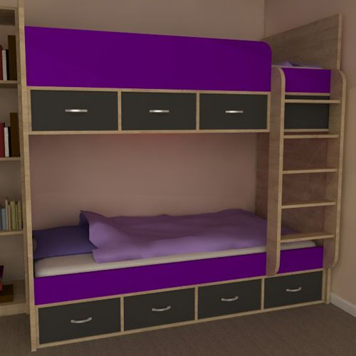 Phoenix Bunk Beds Drawers Available In A Choice Of Grey Red Or Purple Red Dimensions Height Length Width Easy To Assemble With The Stabil Bunk Beds Bed High Sleeper Bed