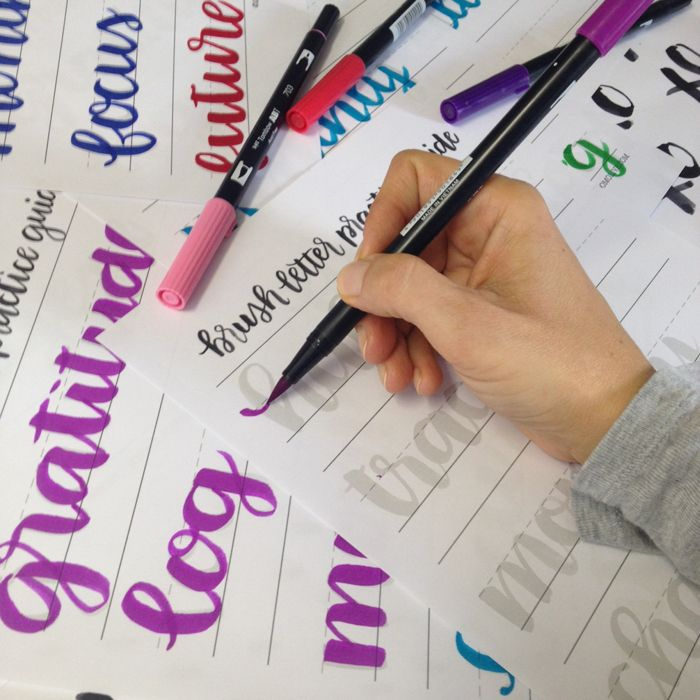 Collaboration: Free Brush Letter Practice Guide for your ...