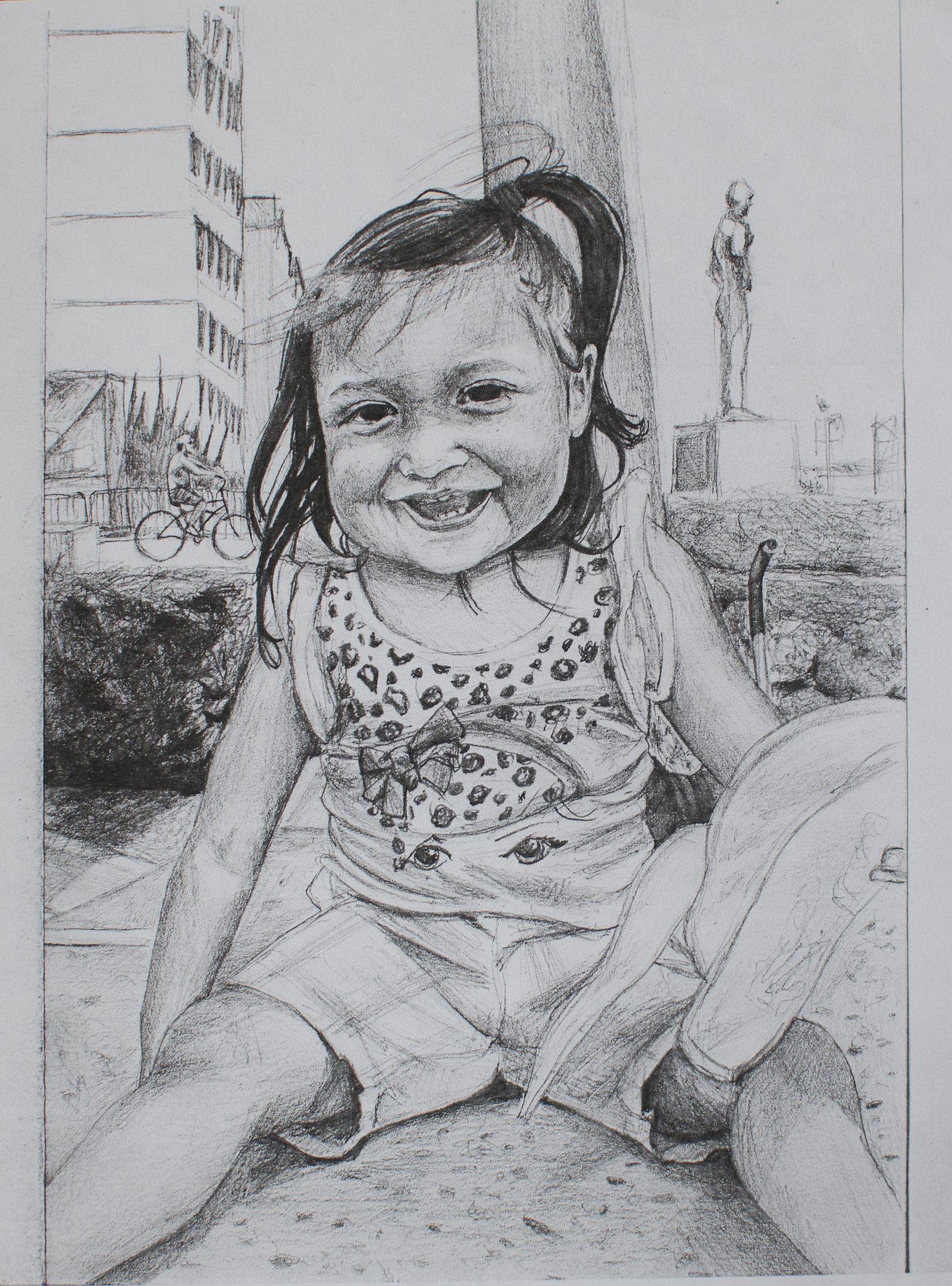 Baby girl portrait pencil drawing my art baby girl portraits