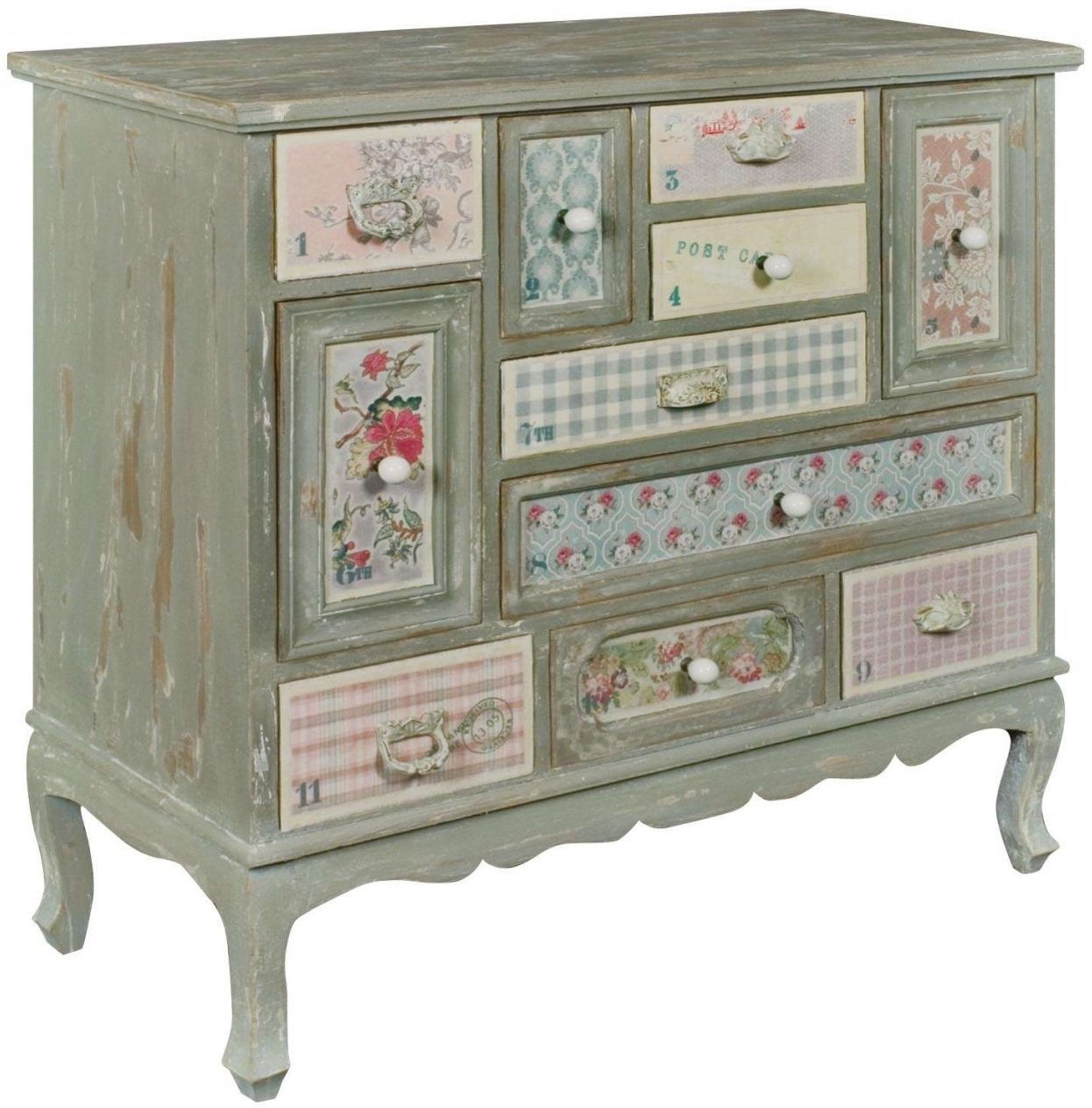 Nice Pd Global Shabby Chic Patchwork Chest Of Drawer   Multi Drawer