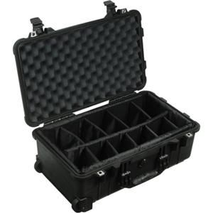 with Yellow Padded Dividers Black Pelican 1510 Case Comes with Wheels.