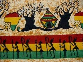 Lap uit Afrika met baobab-bomen