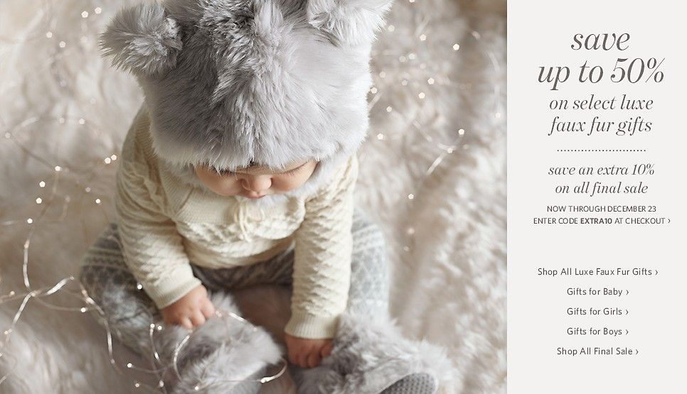Cute Little Fuax Fur Hat and Boots