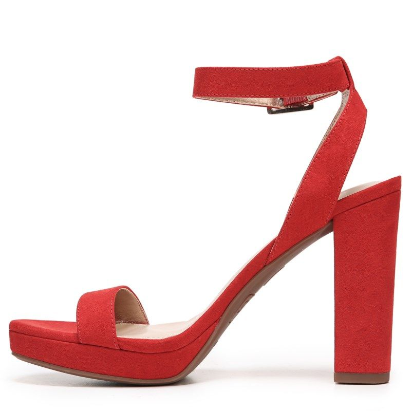0f9184bec697bf Circus by Sam Edelman Women s Annette Block Heel Shoes (Candy Red  Microsuede)