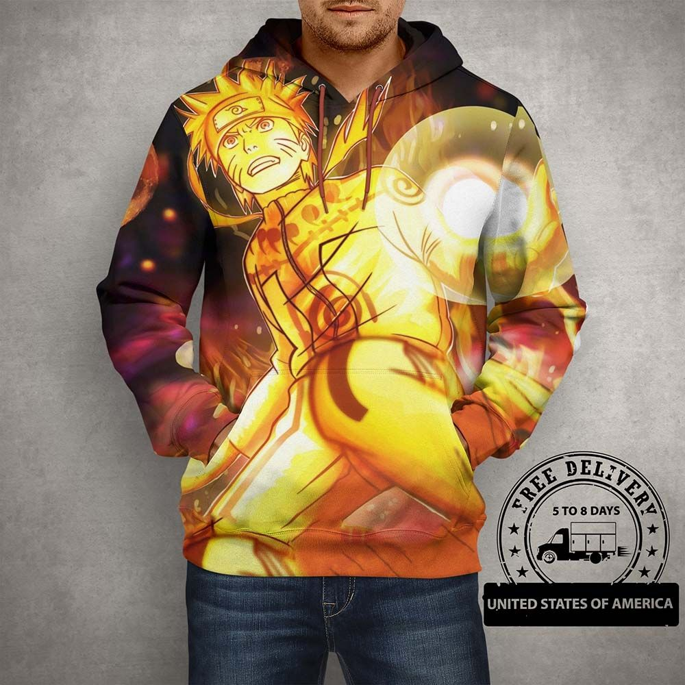 Shop Anime Action Naruto Hoodie 3D Printed Pullover