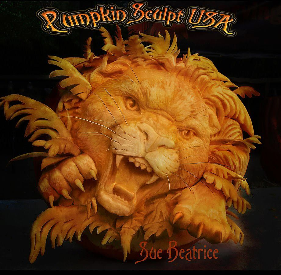 Craved by Sue Beatrice of Pumpkin Sculpt USA | Pumpkin Carving ...