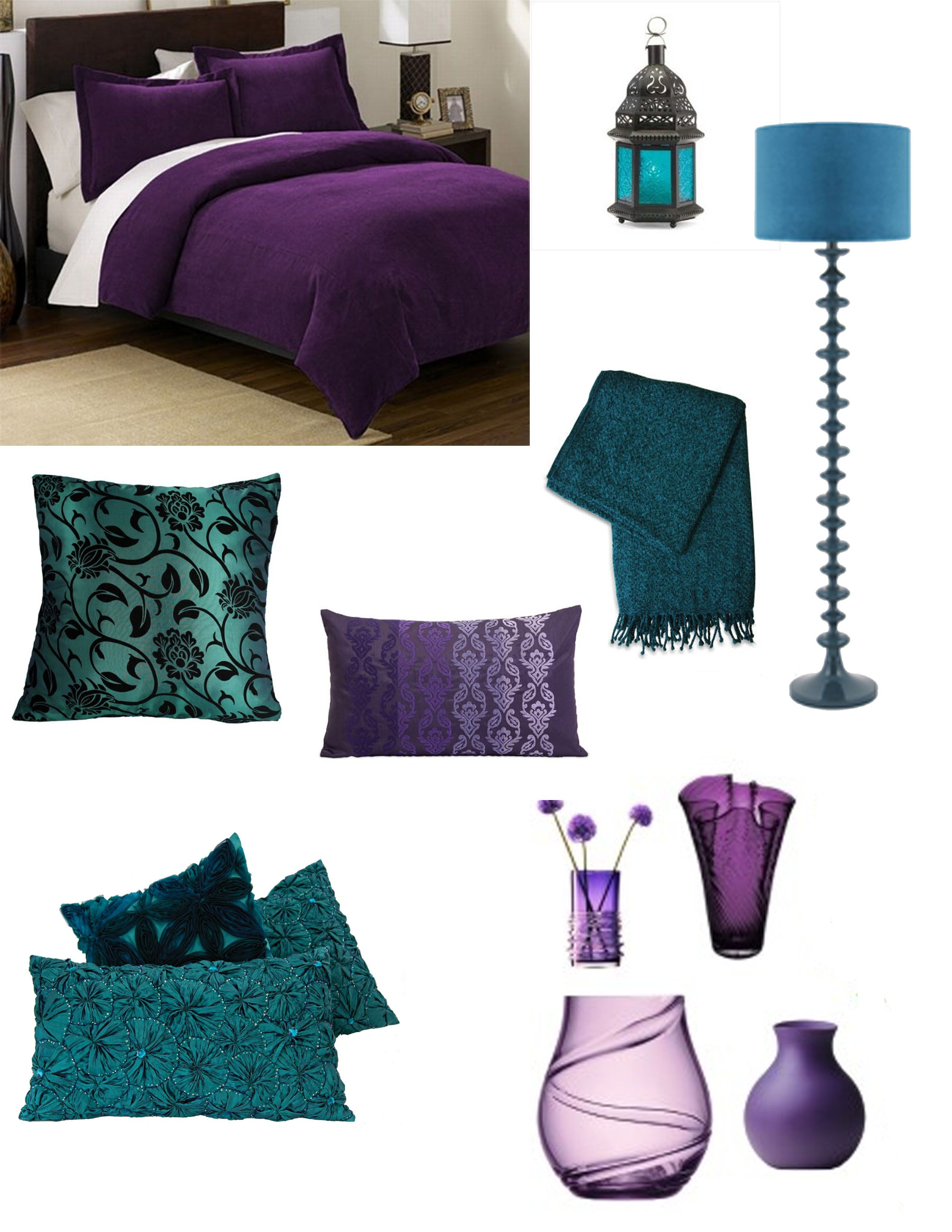 lovely Teal And Purple Bedroom Ideas Part - 13: purple and teal bedroom. i need at least one room in my future home to be  only purple and teal.