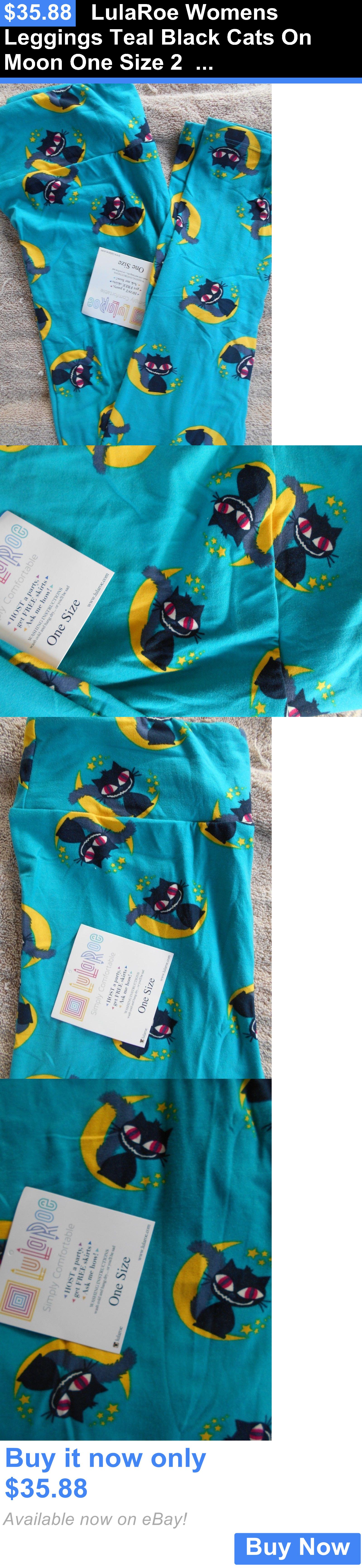 Women Leggings Lularoe Womens Teal Black Cats On Moon One Mooi Cardigan Top Unicorn Size S 2 10 Os