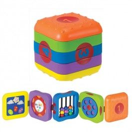 Whoozit Learn & Play Folding Cube Baby Toy   Play to learn ...
