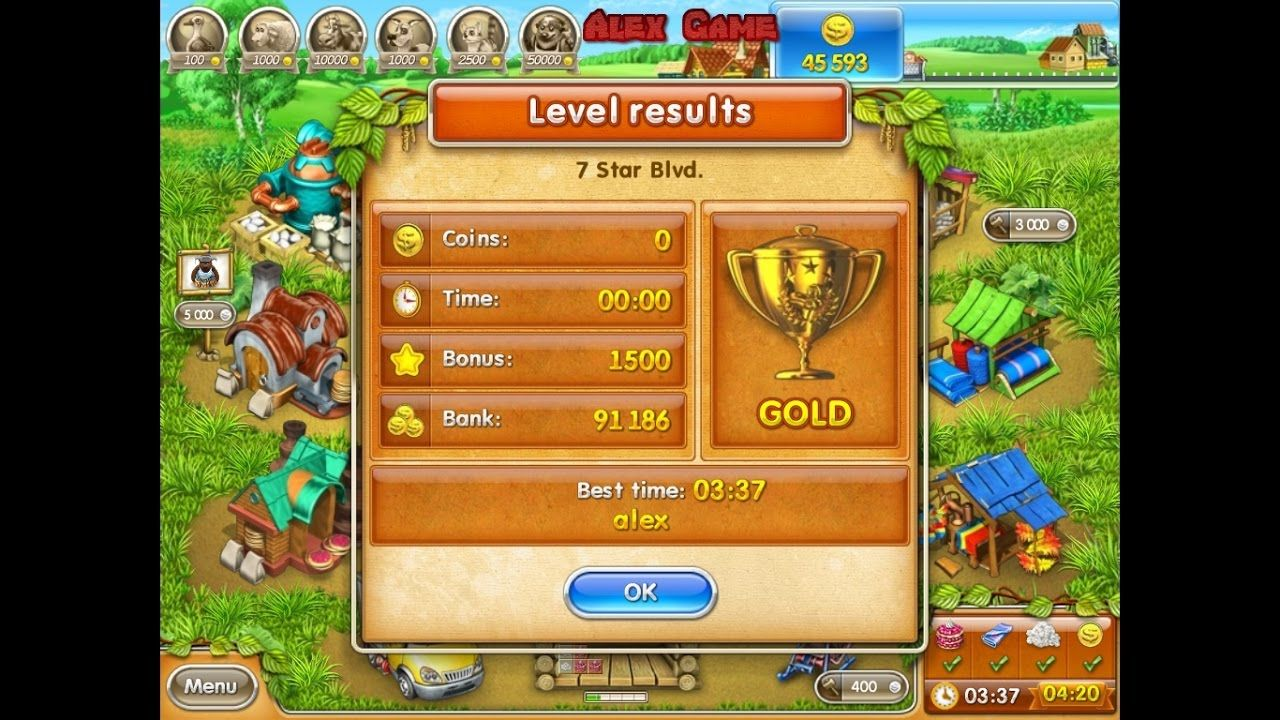 Farm Frenzy 3 Russian Roulette (7 Star Blvd) only GOLD
