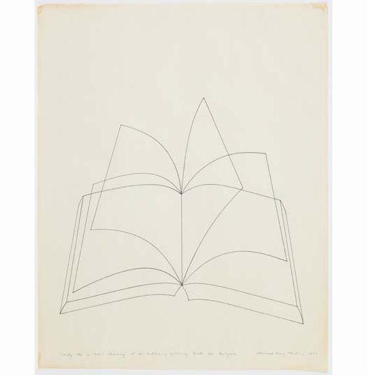 Michael Craig Martin Drawings 1967 2002 Drawings Open Book Drawing Michael Craig