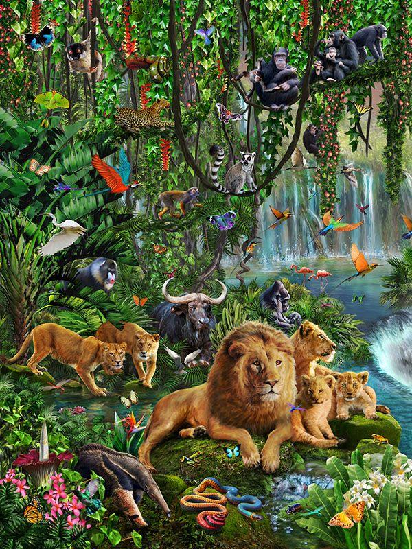 Pin By Doris On Reklama Jungle Art Animal Paintings Animals