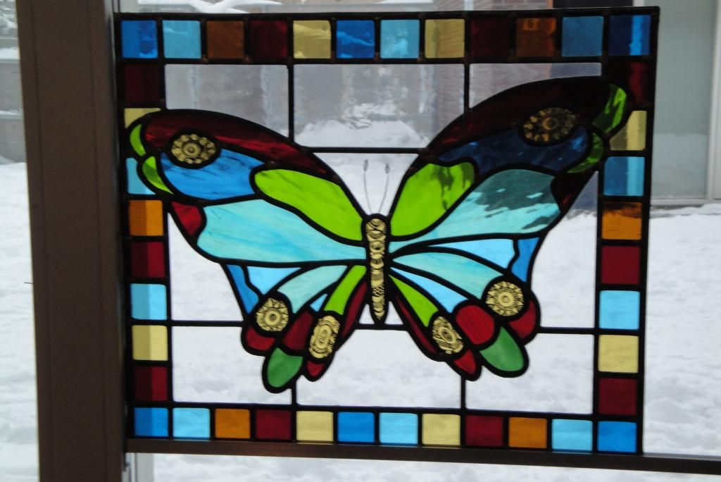 Glas In Lood.Glas In Lood Vlinder Stained Glass Butterfly Glas In Lood