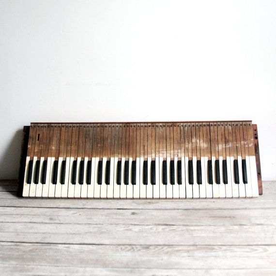 antique late 1800s wooden organ keyboard by lacklusterco on Etsy