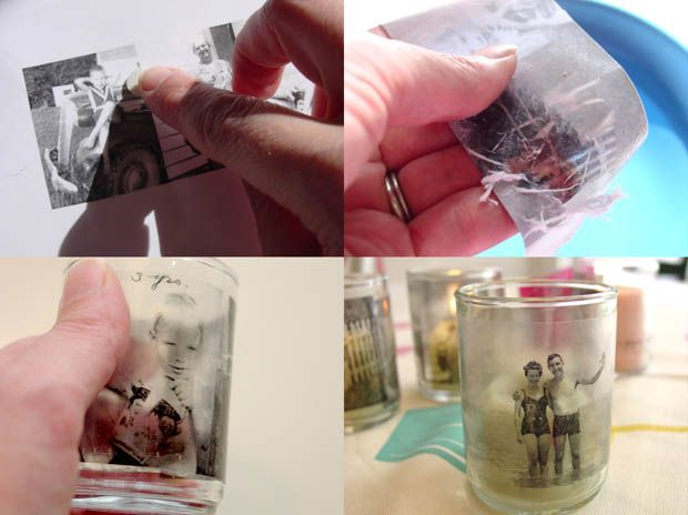 How To Transfer A Photograph Onto Glass Using Contact Paper Crafts With Pictures Glass Printing Transfer Photo To Glass