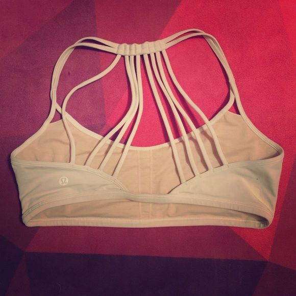 Lululemon lighten up bra Show off this extra scrappy bra under your favorite open back tank as you flow through practice. Purchase wrong size without trying it on. Tried to make it work and it just isn't happening. Lightly worn. lululemon athletica Tops