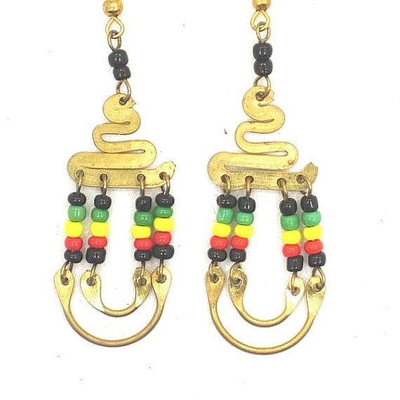 African Kenya Jewelry Brass Maasai Beads Rasta by MasaiMarkets