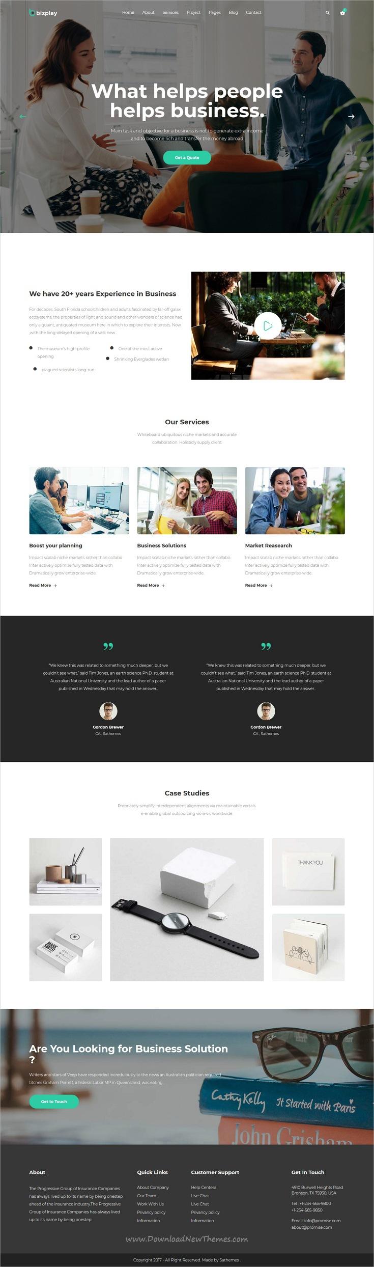 Bizplay - Business, Consultation & Finance Multipurpose Template ...