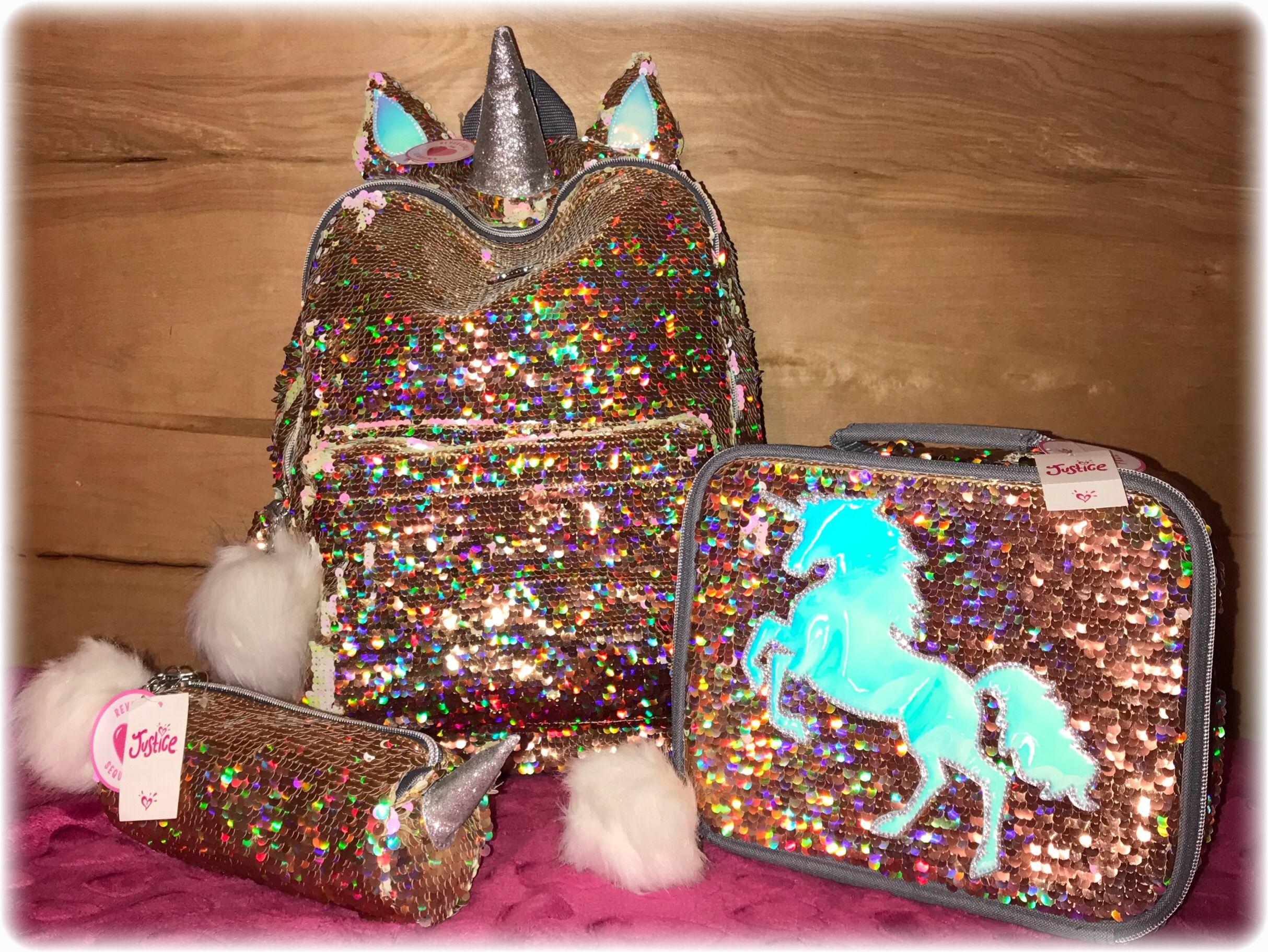 Unicorn Flip-Sequin Backpack Set  77c9186946acb