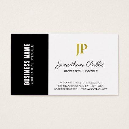 Creative Corporate Plain Modern Monogram Classy Business Card Zazzle Com Classy Business Cards Business Card Minimalist Business Cards Creative