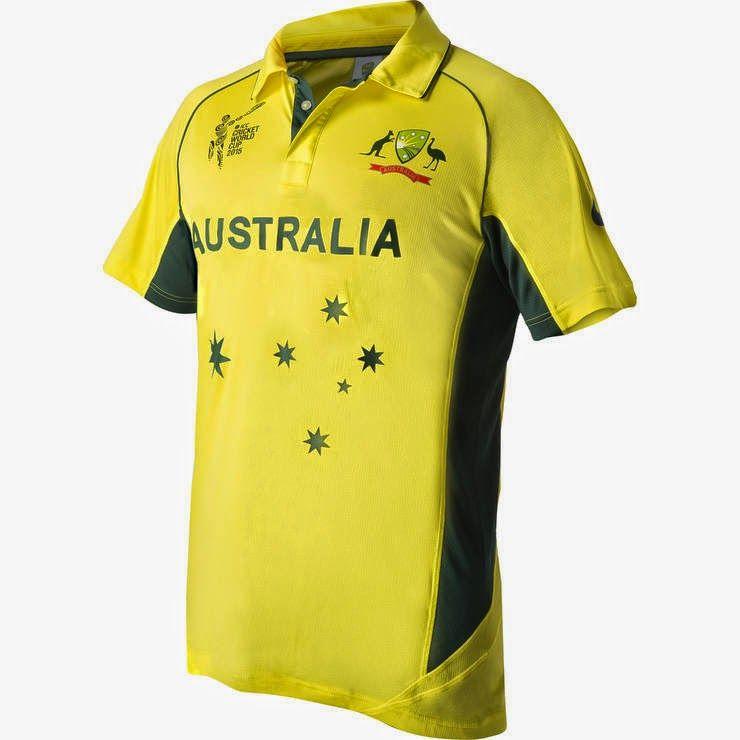 Australia S Cricket World Cup 2015 Kit Jersey Cricket World Cup Australia Cricket Team Cricket Store